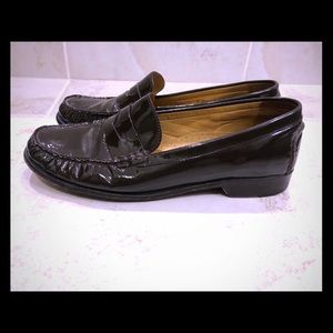 🛍Cole Haan Brown Patent Penny Loafers